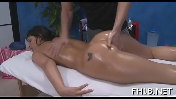 Fellow's huge penis enters her clean shaved pin...