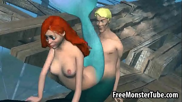 3D Ariel from the Little Mermaid gets fucked hard-high 1