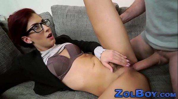 Classy fetish babe jizzed