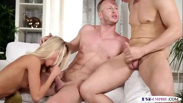 Bi hunk cocksucked and assfucked in mmf trio