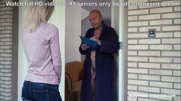 Grandpa and Horny Delivery Girl - More at XXDAILYDOSE.COM