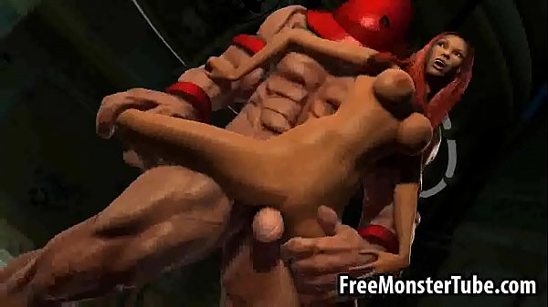 3D redhead babe getting fucked by The Juggernaut