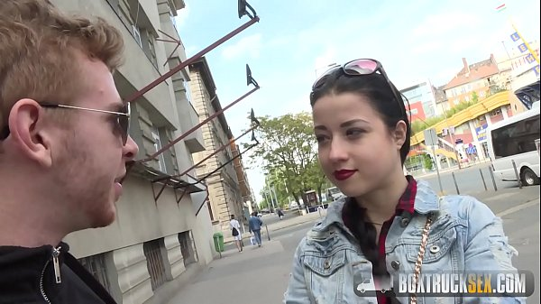 Hot Taissia Show off her Cocksucking Skills in Public