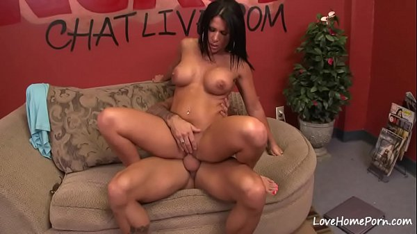Big tits brunette got fucked on the couch