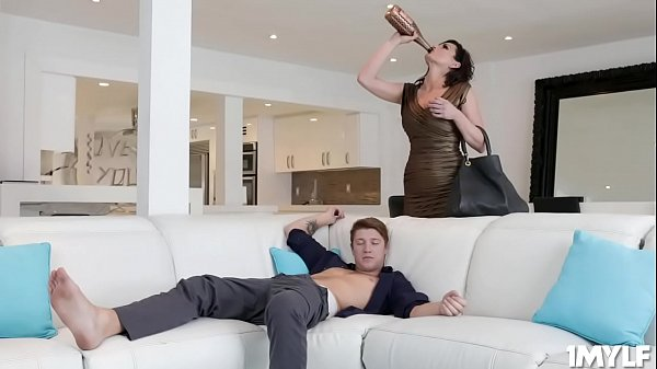 Horny step mom fucks Oliver Fynns cock