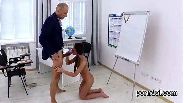 Natural schoolgirl was teased and banged by her aged teacher