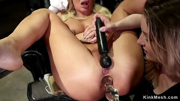 Blonde MILF lesbian is anal fisted