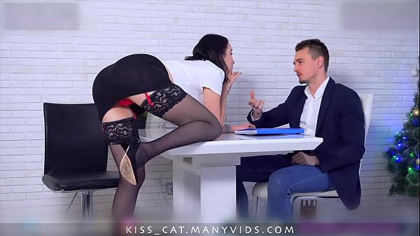 Kisscat Job Interview through DP Hard Ass Fuck ...