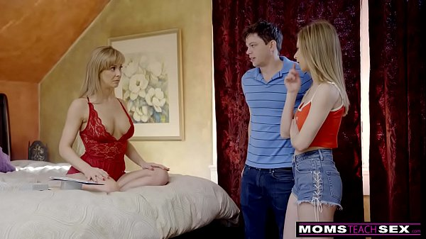 MomsTeachSex - Busty MILF Gets Hot m.'s Day Threesome! S8:E4