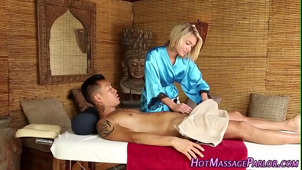 Teen masseuse face jizz