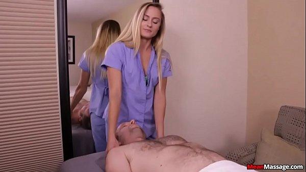 Cute Massage Therapist Sits On Jerks Face