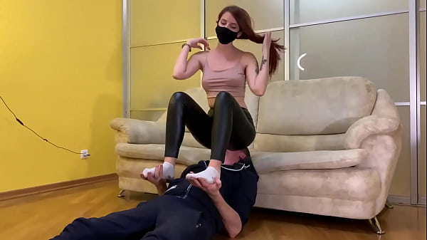 Cruel Domina Sofi In Black Leggings - Full Weight Facesitting and Uses Her Slave Like a Chair (Preview