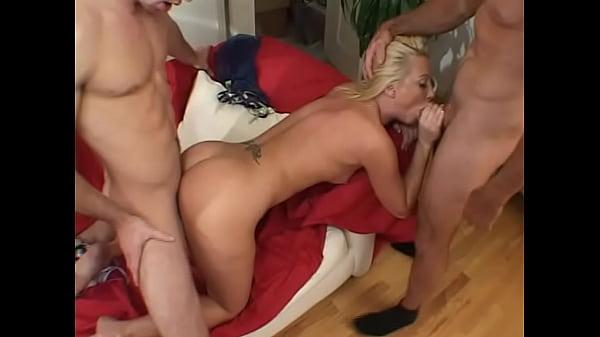Horny slut Alexis Malone enjoys 2 big cocks