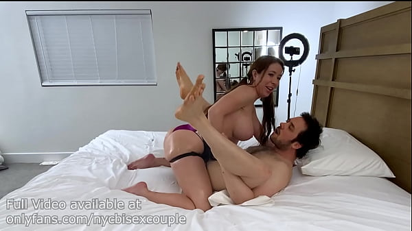 Bianca Burke fucks a guy with a strapon