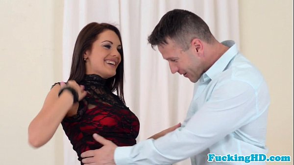 Euro babe tastes jizz after anal bang