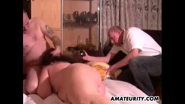 Chubby amateur Milf toys and sucks in front of her husband