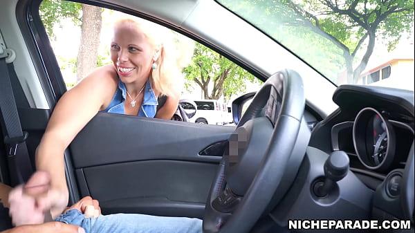 NICHE PARADE - Mature Blonde Slut Gave Me Handjob Through Car Window In Public!