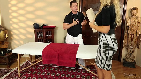 Senator Olivia Austin fucked by the masseuse