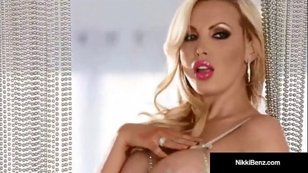 Canadian Star Nikki Benz Strips Teases & Plays w/ Our Minds