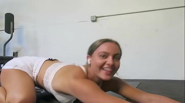 Blonde sex vlog (Gym, shower, dildo)