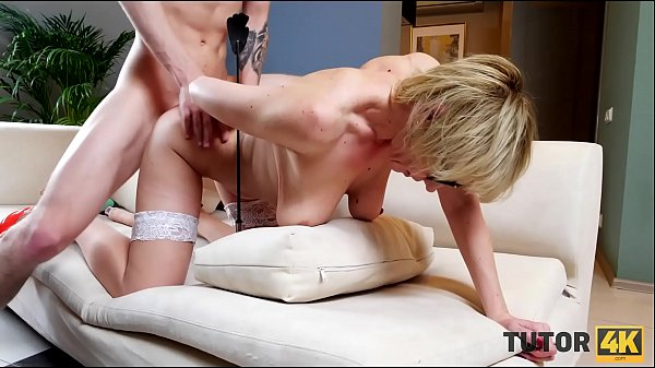 TUTOR4K. Boy enticed teacher into showing off boobies and being drilled