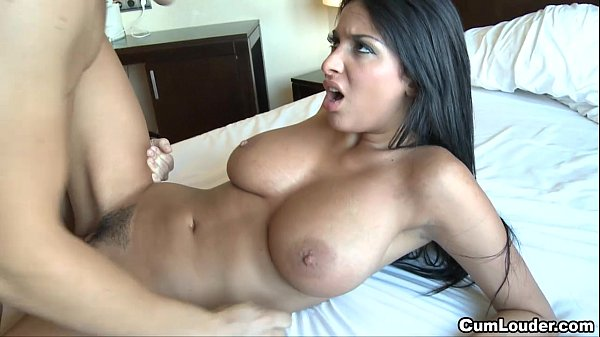 Anissa Kate jerks a Cock with her massive Boobies