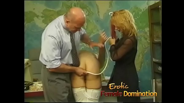Secretary pisses in the office and gets a severe punishment