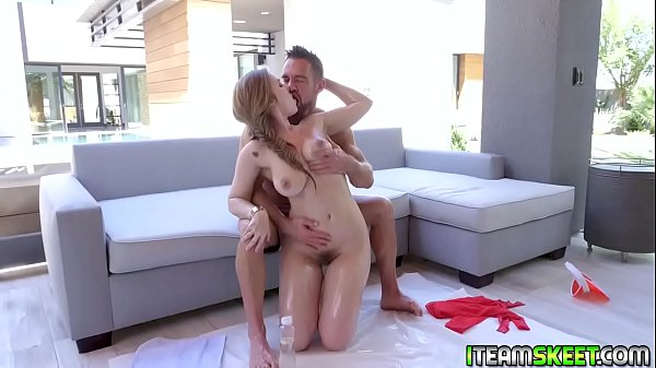 Johnny Castle outdoor shower fuck Lena Pauls juicy twat from behind