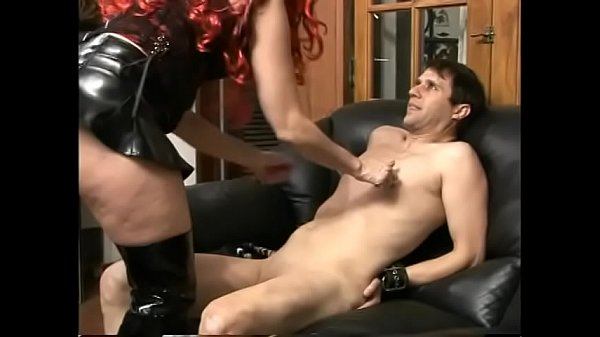 Rusty bollocks Katrina Rosebud is ready to propose her slave special delectable: well lubricated strap-on