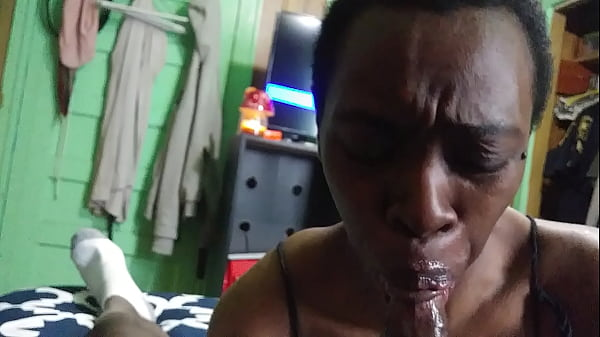 Bbc deepthroat blowjob with cum in mouth