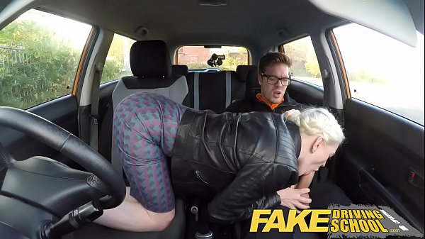 Fake Driving School big tits hairy pussy studen...