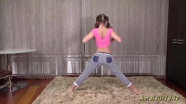 cute flexi teen stretching lesson Thumb