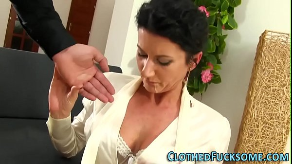 Elegant lady takes facial Thumb