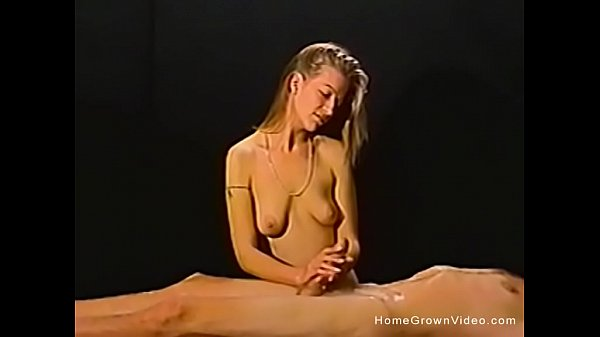 Petite amateur blonde gives a massage then a ha...