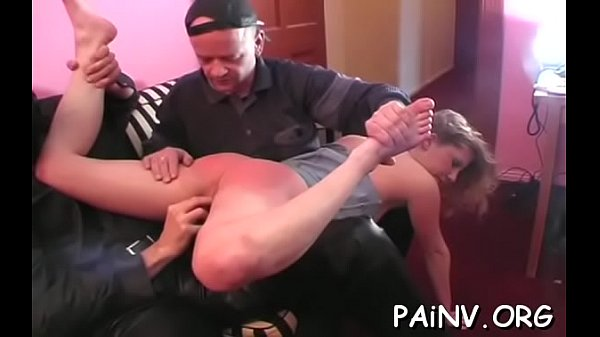 Spanking her pussy