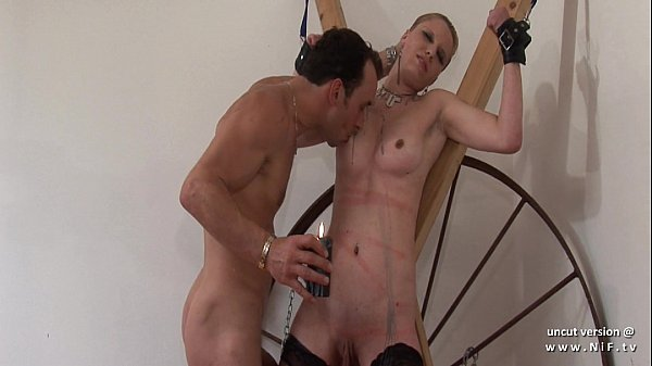 French squirt Cindy Picardie hard banged in a bdsm game Thumb