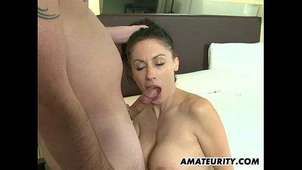 Hot amateur Milf sucks and fucks in a hotel room