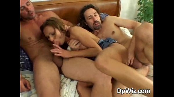 Dirty slutty bitch gets DPed as two