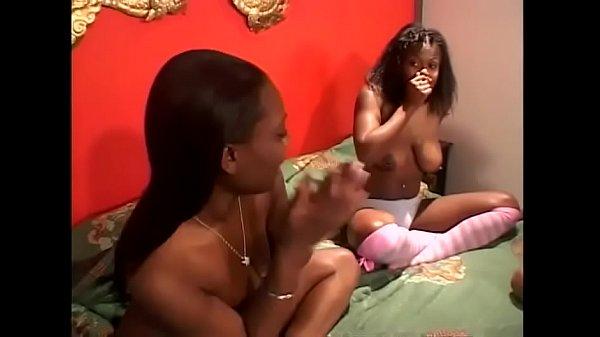 Black lesbians feeling the taste of a black pus...