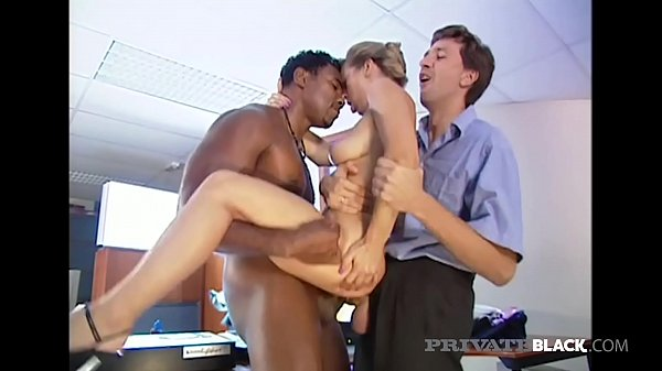Private Black - Retro Fuck Fun With Blonde DPd By BBC & Bro!