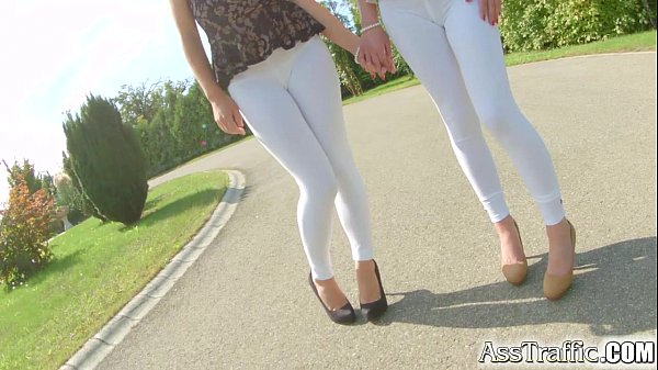 Ass Traffic pretty brunette enjoy anal fucking