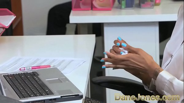 Dane Jones Sexy young Ebony office girl has the hots for her boss thumbnail