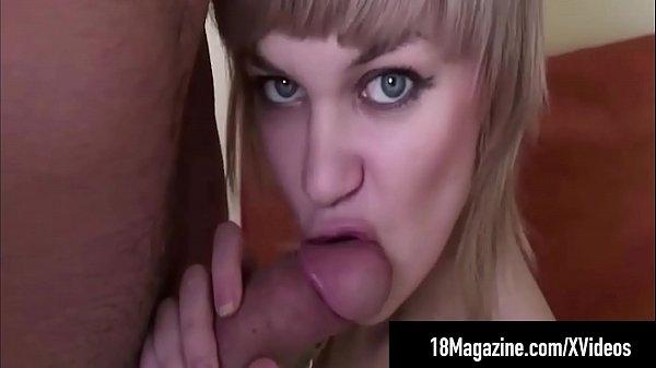 Short Haired Teen Amy Days Sucks & Foot Fucks A Hard Cock