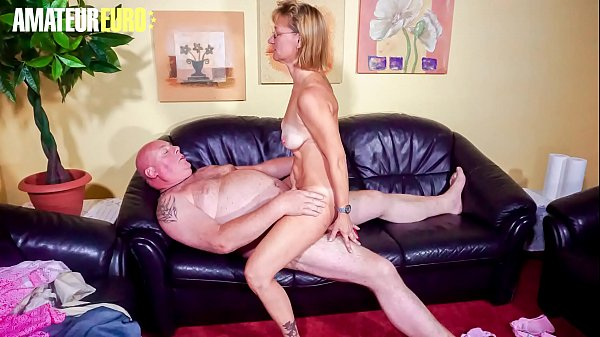 AMATEUR EURO - Horny German Granny Conni Fucks With Plumber