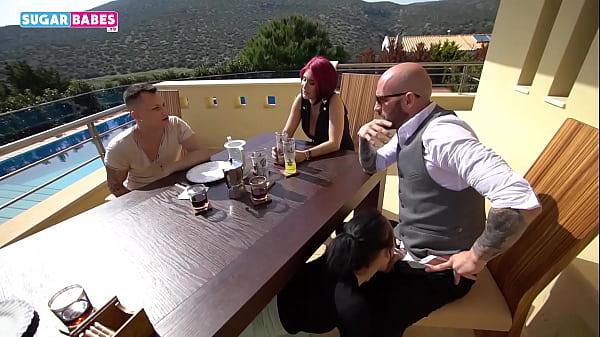 SUGARBABESTV : MY dad fuck my girlfriend front of my step mom trailer