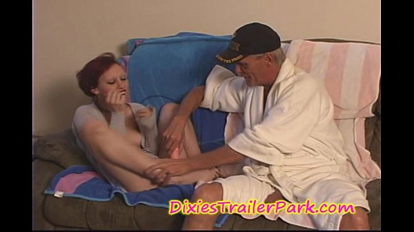 Daddy Masturbates Teen Daughter and then Fucks her MOUTH
