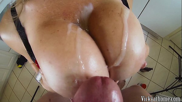 Big Tits Covered In Jizz!! Hall of Fame MILF Vicky Vette