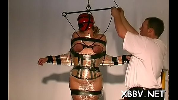 Bulky female tied up and forced to endure sadomasochism xxx
