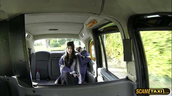 Cutie girl Alessa gets a messy creampie in the backseat thumbnail