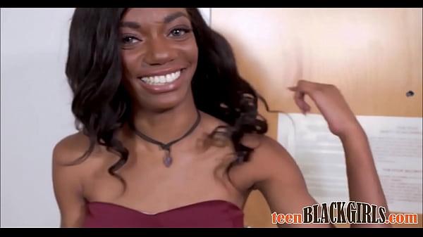 Sexy Petite Black Ebony Teen Casting Chanel Skye Fucked To Orgasm By White Director POV